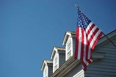 Haus in Str. Augustin mit amerikanischer Flagge Stockfotos