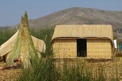 Haus am Titicaca See Stockbild
