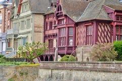 Haus in Trouville-sur Mer in Normandie Lizenzfreies Stockfoto