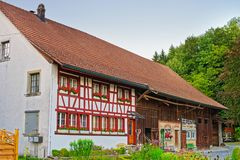 Haus in Turbenthal in Winterthur in Zürich-Bezirk in der Schweiz Lizenzfreies Stockfoto