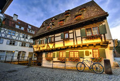 Haus in Ulm, Deutschland stockfotografie