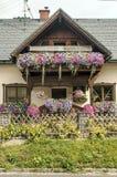 Haus umgeben durch Wiesen Lizenzfreie Stockfotografie