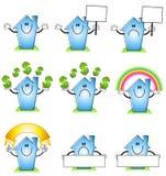 Haus-und Ausgangskarikaturen stock abbildung