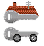 Haus- und Autoschlüssel Stockbilder