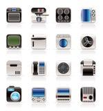 Haus und Büro, Ausrüstungs-Ikonen stock abbildung