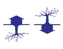 Haus und Baum Stockfotografie