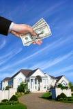 Haus und blauer Himmel Stockfotografie