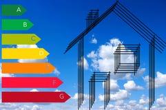 Haus und Energiesparen Lizenzfreies Stockfoto