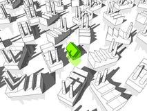 Haus und Fabriken Lizenzfreie Stockfotografie