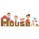 Haus und Familie Stockbilder