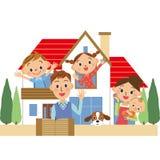 Haus und Familie Stockfotos