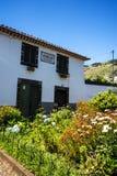 Haus und Garten in Machico auf der Insel von Madeira Portugal Stockbilder