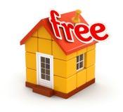 Haus und geben frei (der Beschneidungspfad eingeschlossen) Lizenzfreie Stockfotos