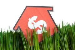 Haus und grünes Gras Stockbilder