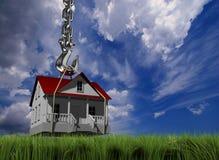 Haus und Haken Stockfoto