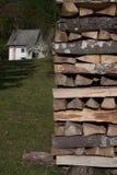 Haus und Heizung Lizenzfreies Stockfoto