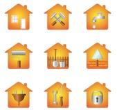 Haus und Hilfsmittel vektor abbildung