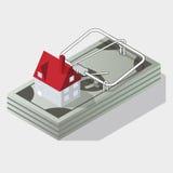 Haus und Mausefalle vektor abbildung