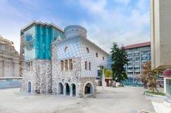 Haus und Museum der Mutter Theresa in Skopje stockbilder