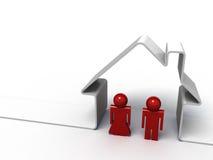 Haus und Paare Lizenzfreie Stockfotografie