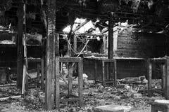 Haus unten gebrannt Lizenzfreie Stockbilder