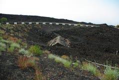 Haus unter Lava Lizenzfreies Stockbild