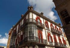 Haus Vegueta-Nachbarschaft Stockfotografie