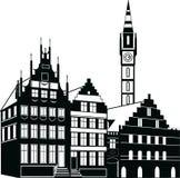 Haus-Vektor-Illustrations-Schwarzes Lizenzfreie Stockfotografie