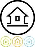 Haus - vektorikone auf weißem Hintergrund Lizenzfreie Stockfotografie