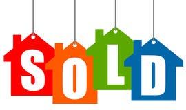 Haus verkauft vektor abbildung