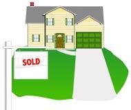 Haus - verkauft Lizenzfreie Stockfotos