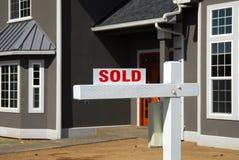 Haus verkaufte 2 Lizenzfreie Stockfotos