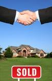 Haus verkaufte Lizenzfreie Stockfotos