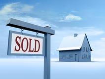 Haus verkaufte Zeichen Stockbilder