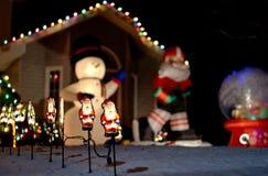 Haus verziert für Weihnachten Lizenzfreies Stockbild