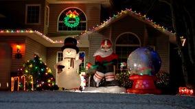 Haus verziert für Weihnachten Stockfotografie