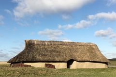 Haus vom Bronzezeitalterzeitraum in Borum Eshoj, Dänemark Stockbild