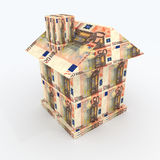 Haus vom mone Euro Stockbild