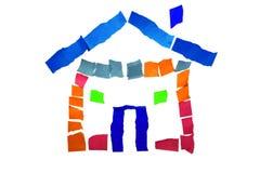 Haus vom Papier Stockfoto