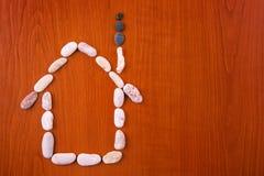 Haus vom Stein Stockfoto