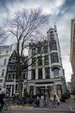 Haus von Amsterdam Holland stockfotos