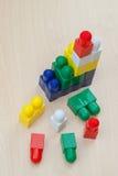 Haus von Blöcken - Spielzeug Stockbild