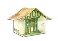 Haus von den Banknoten Lizenzfreie Stockfotos
