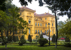 Haus von Ho Chi Minh in Hanoi Stockbild