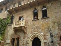 Haus von Juliet in Verona Stockfotos