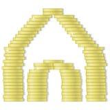 Haus von Münzen Lizenzfreie Stockfotografie