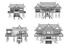 Haus von Mittel-Thailand Lizenzfreie Stockfotos