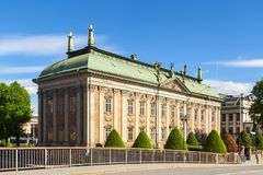 Haus von nobilty - Riddarhuset in Stockholm stockfotografie