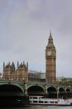Haus von Parlament und von Westminster-Brücke Stockfoto