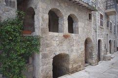 Haus von ReManfrì, Castel Trosino lizenzfreie stockfotos